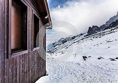 Ski Hut, Plan de Aguille, Mont Blanc