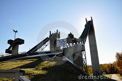 Ski Jump in Lake Placid Olympic Jumping Complex Editorial Photo