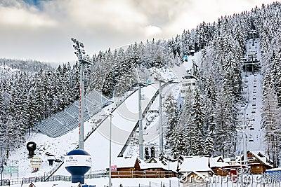 Ski Jump in Zakopane, Poland Editorial Stock Image
