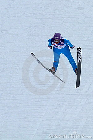 Ski jumper Martin Schmitt flies Editorial Stock Image