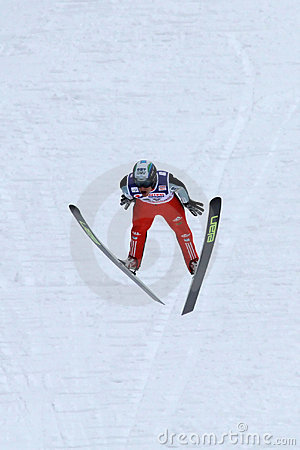 Ski jumper Mitja MEZNAR flies Editorial Photography