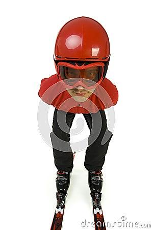 Free Ski Jumper Prepared To Jump Royalty Free Stock Photos - 3671548