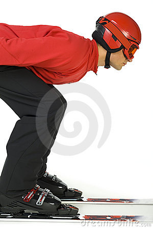 Free Ski Jumper Ready To Jump Stock Images - 3671704