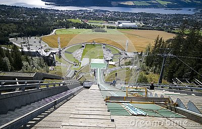 Ski jumping slope.