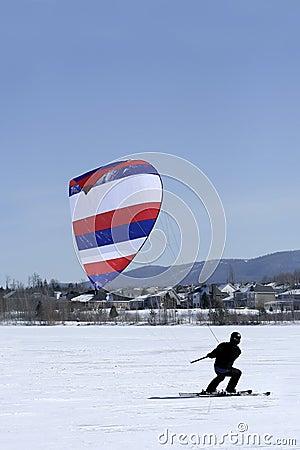Free Ski Kiter Royalty Free Stock Photography - 4545627