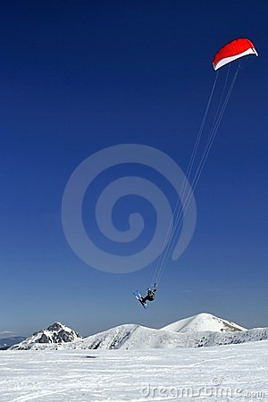Free Ski Kiting Stock Photography - 24011112