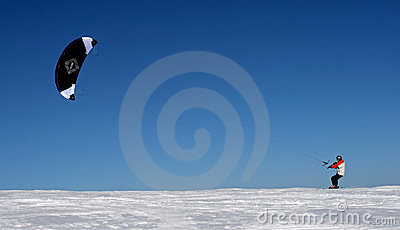 Ski kiting Editorial Photo