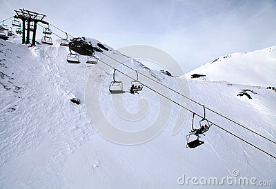 Ski lift at Alps(Austria)