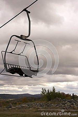 Ski Lift Chair on Mountain Side