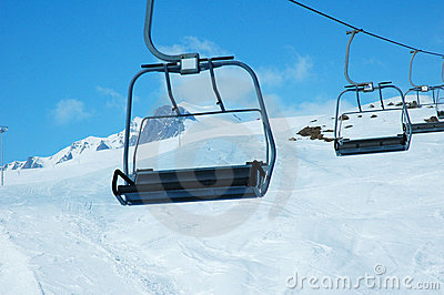Ski lift chairs