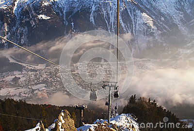 Ski Lift in French Alps