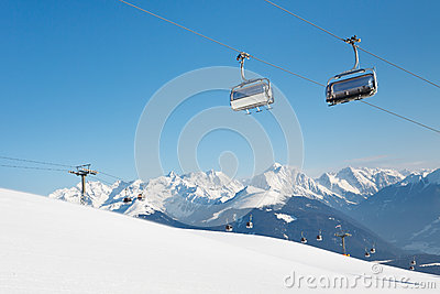 Ski Lift at Ski Resort in the Alps