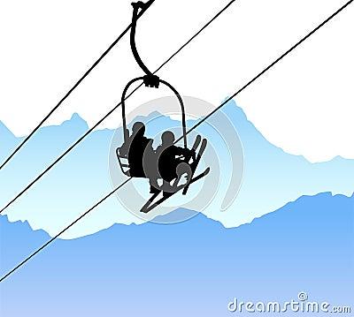 Free Ski Lift Vector Royalty Free Stock Photo - 7678625