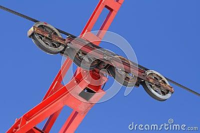 Ski lift wheels