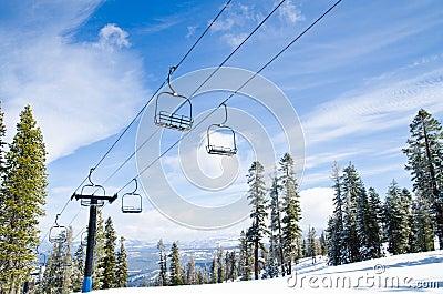 Ski lifts at ski/snowboard resort