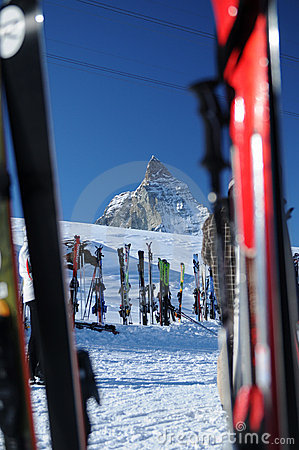 Ski at Matterhorn Editorial Image