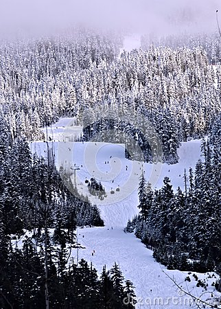 Ski mountain at Canada