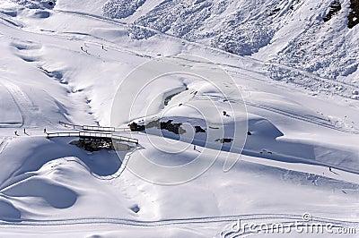 Ski pistes in Alps