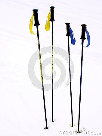 Free Ski Poles Stock Images - 654844