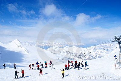 Ski resort Editorial Stock Photo