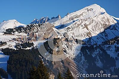 The ski resort of Avoriaz in the French Alps