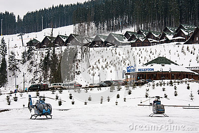 Ski resort Bukovel Editorial Stock Photo