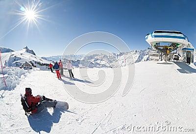 Ski resort of Cervinia, Italy
