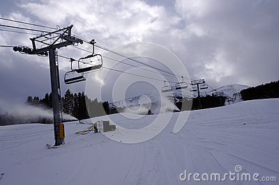 Ski resort chair lift