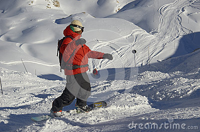 Ski resort France Espace Killy Editorial Stock Photo