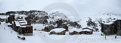 A  ski resort in the French Alps, Editorial Photo