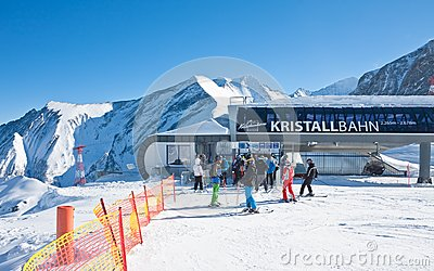 Ski resort of Kaprun, Austria Editorial Stock Photo