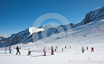 Ski resort of Kaprun, Austria Editorial Stock Image