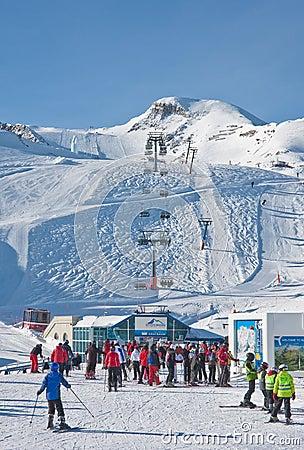 Ski resort of Kaprun,  Austria Editorial Photo