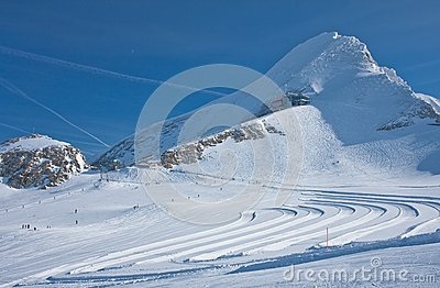 Ski resort of Kaprun, Austria