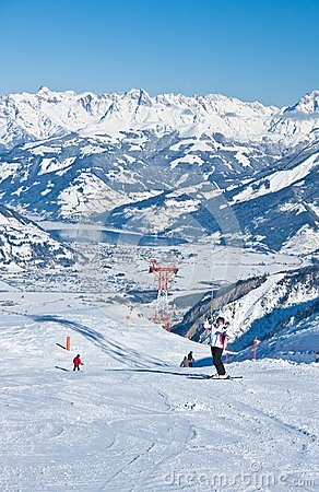 Ski resort  Kaprun, Austrian Alps