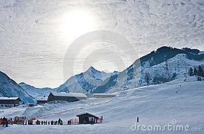 Ski resort Kaprun - Maiskogel Editorial Stock Image