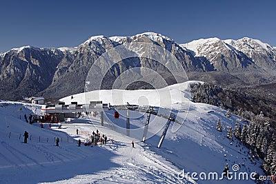 Ski resort landscape