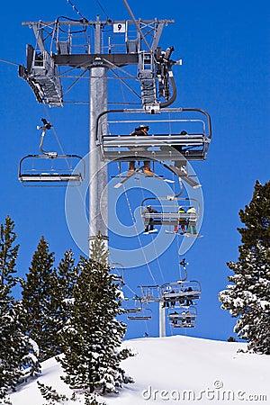 Ski resort Les Arcs.