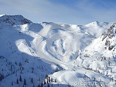Ski resort pistes