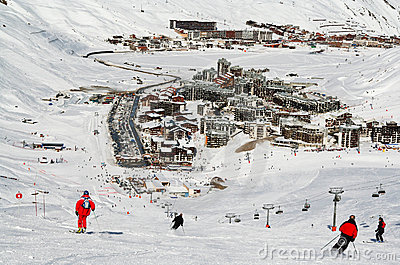 Ski resort Tignes. France