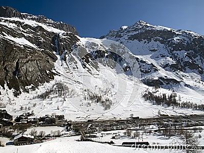 Ski resort Tignes, Val d Isere