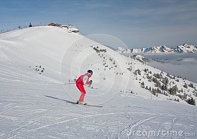 Ski resort Zell am See Editorial Photography
