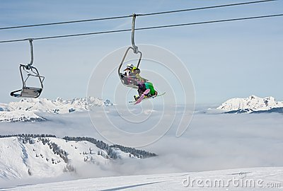 Ski resort Zell am See Editorial Photo