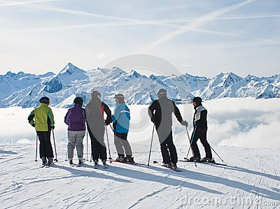 Ski resort Zell am See Editorial Stock Photo