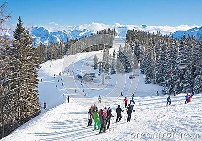 Ski resort Zell am See Editorial Photo