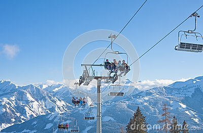 Ski resort Zell am See Editorial Stock Image
