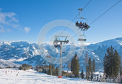 Ski resort Zell am See Editorial Image