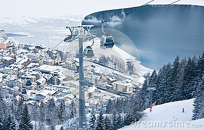 Ski resort Zell am See, Austria