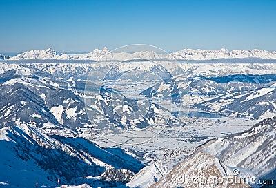 Ski resort  Zell am See, Austria