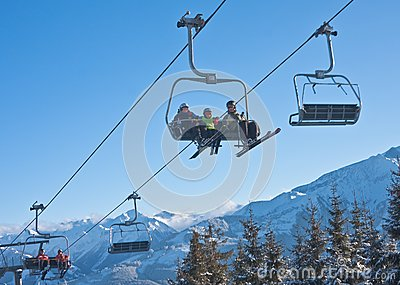 Ski resort Zell am See. Austria Editorial Image